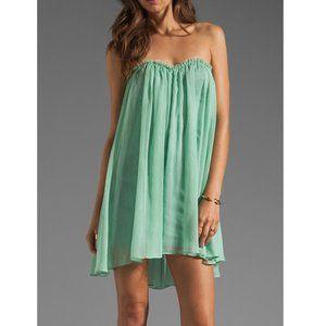 Blaque Label Aqua Chiffon Sweetheart Shift Dress
